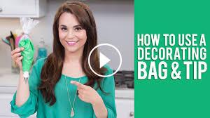 how to use a decorating bag u0026 tip rosanna pansino video tutorial