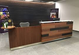Reception Desk Wood Custom Designs Arnold Contract