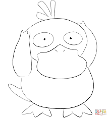 psyduck coloring page free printable coloring pages