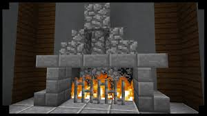 Minecraft How To Make A Furniture by Minecraft How To Make Simple Fireplace Youtube