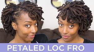 dreadlocks hairstyles youtube loc hairstyle tutorial petaled loc fro youtube