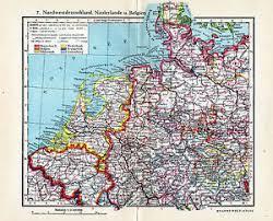 map netherlands belgium antique map netherlands belgium northwest germany 1932 nederland