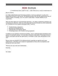 engineering technician cover letter examples livecareer