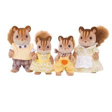 sylvanian families walnut squirrel family 4172 from austins