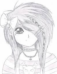 easy anime drawings emo scene gurl by kattify7764 on deviantart