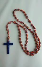 rosary twine handmade st philomena knotted cord rosary twine plastic