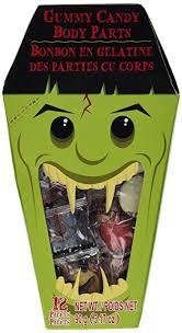 amazon com 3 17 oz gummy candy body parts halloween eyes severed