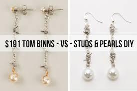 diy drop earrings diy barbed wire pearl drop earrings tom binns inspired