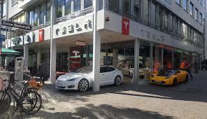 tesla opened new electric car store in frankfurt tesla