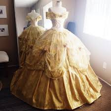 Ball Dress Disney Inspired Deluxe Belle Ball Gown From Beauty And The Beast