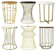 small gold side table amazing target gold side table 19 for your small home remodel ideas
