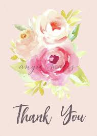thank you flowers this adorable printable thank you card with watercolor