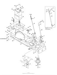 troy bilt 13bx60kh011 super bronco 2009 parts diagram for frame