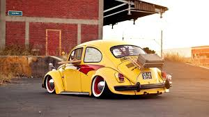 slammed cars wallpaper volkswagen bug beetle classic car yellow 6989832