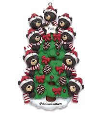 tree family of 9 personalized ornament