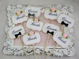 Rehearsal Dinner Decorations Bride U0026 Groom Cupcake Toppers Love Story Weddings Favors Party