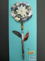 recycled magazine flowers teachkidsart