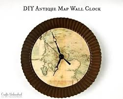 Make Your Own Map Make Your Own Clock With An Antique Map Theme