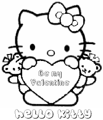 merry valentines coloring sheets pages kitty 224 coloring