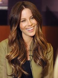dark hair colors with red and blonde highlights hairstyle