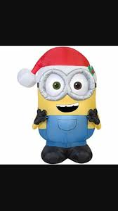 gemmy bob the minion christmas inflatable youtube