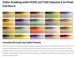 fcpx lut fall volume 2 was released by pixel film studios for fcpx lut fall volume 2 pixel film studios pluginsfcpx effects lut fall themed pixel film effects
