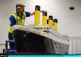 vauxhall lego here u0027s a recreation of the titanic made entirely out of lego