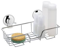 Suction Cup Bathroom Shelf Suction Cup Single Shower Basket Contemporary Shower Caddies