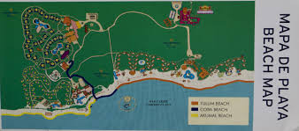 tulum map map at bahia principe in mayan riviera photo