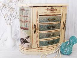 themed jewelry box mbs decoupaged jewelry box bird themed jewelry storage painted