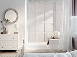 pax white wardrobe with hemnes white stained doors and hemnes