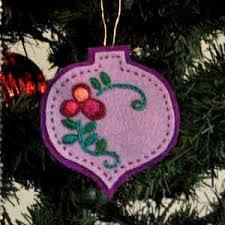 floral felt tree ornament