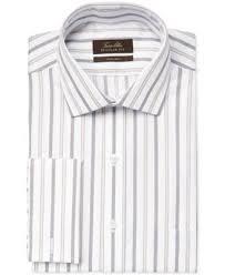 tasso elba non iron camel sateen stripe french cuff dress shirt