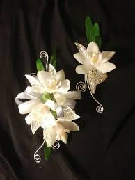 cheap corsages for prom white orchid corsage boutonniere pair prom flowers designer