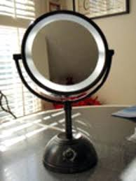 magnification mirror with light lighted magnifying mirror oil rubbed bronze led makeup mirror