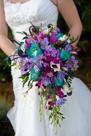 teal wedding purple and teal wedding flowers wedding corners