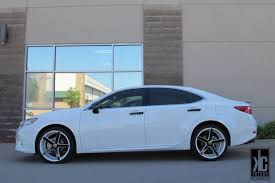 lexus es white kc trends showcase vossen cv3 custom white black wheels