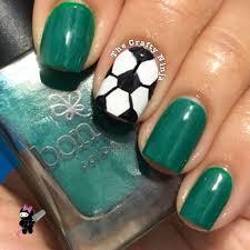 soccer ball nail art the crafty ninja