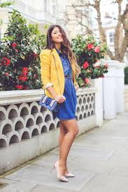 fashion trends elegant strapless denim dress combined with luxuy