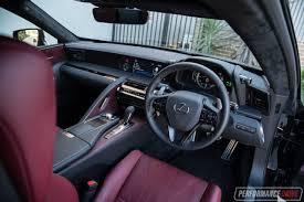 toyota lexus 2017 interior 2017 lexus lc 500h review video performancedrive