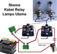 wiring relay lampu mobil daihatsu charade g10 indonesia skema