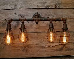 8 bulb vanity light rustic pipe bathroom vanity iron industrial light incredible 3