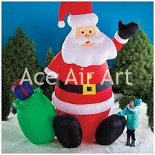 winter sale product santa claus sit in the