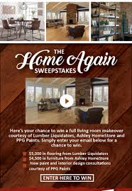 home again sweepstakes ashley furniture homestore