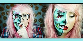 hipster zombie pop art makeup tutorial youtube
