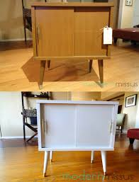 Vintage Cabinet Revamp by Mid Century Modern Record Cabinet Before And After 50s 60s