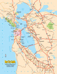 Zip Code Map San Francisco by Map Bay Area California California Map