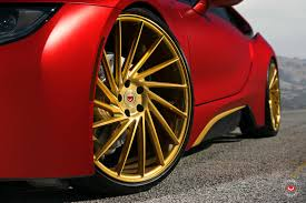 bmw i8 gold vossen wheels bmw i8 vossen forgedprecision series vps 305t