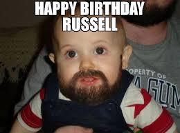 Russell Meme - happy birthday russell meme beard baby 66481 memeshappen