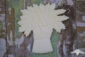 chic mouldings appliques and mouldings shabby wheat sheaf basket